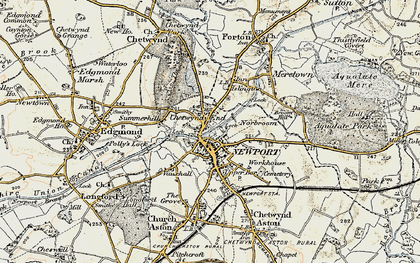 Old map of Newport in 1902