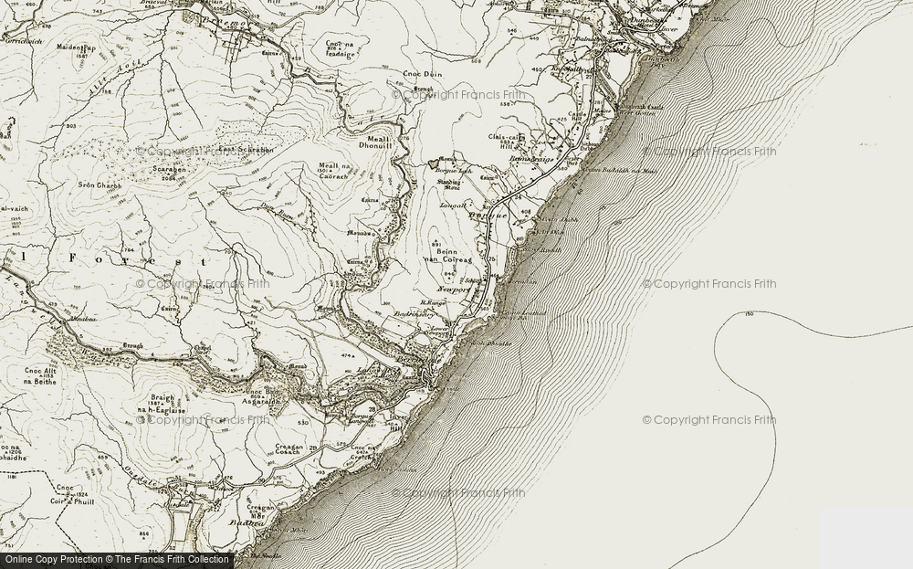 Old Map of Historic Map covering Badrinsary in 1911-1912