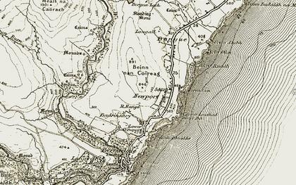 Old map of An Dùn (Broch) in 1911-1912