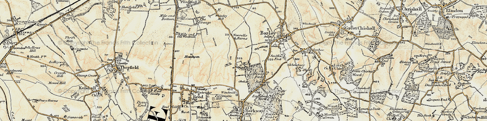 Old map of Whiteley Hill in 1898-1901