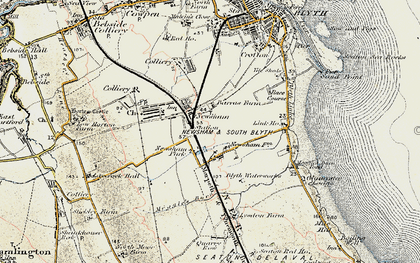 Old map of Link Ho in 1901-1903
