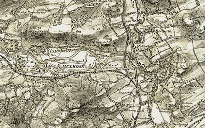 Old map of Leaderfoot in 1901-1904