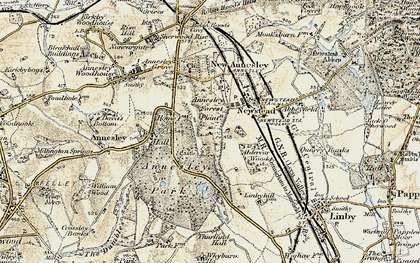 Old map of Annesley Hall in 1902
