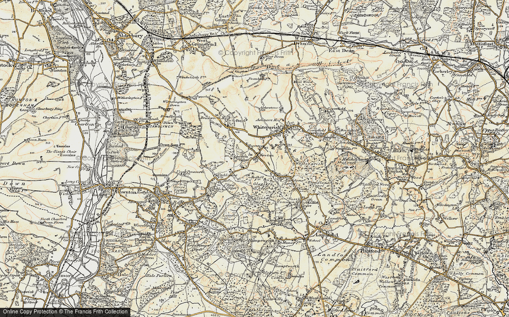 Old Map of Historic Map covering Bagfield Copse in 1897-1909