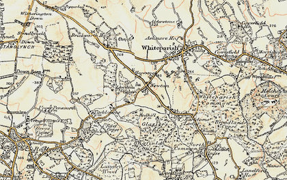 Old map of Bagfield Copse in 1897-1909
