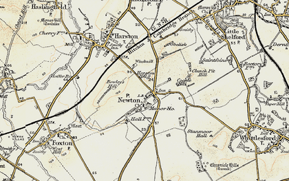 Old map of Newton in 1899-1901