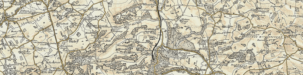 Old map of Wig Wood in 1900-1901