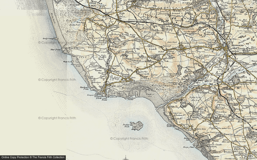 Old Map of Newton, 1900-1901 in 1900-1901