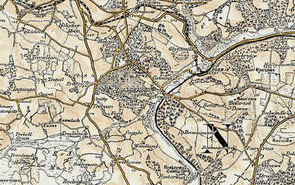 Old map of Newton in 1900