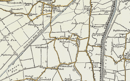 Old map of Newton in 1901-1902