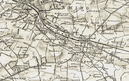 Old map of Wysebyhill in 1901-1904