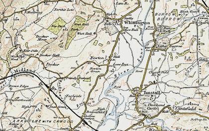 Old map of Newton in 1903-1904