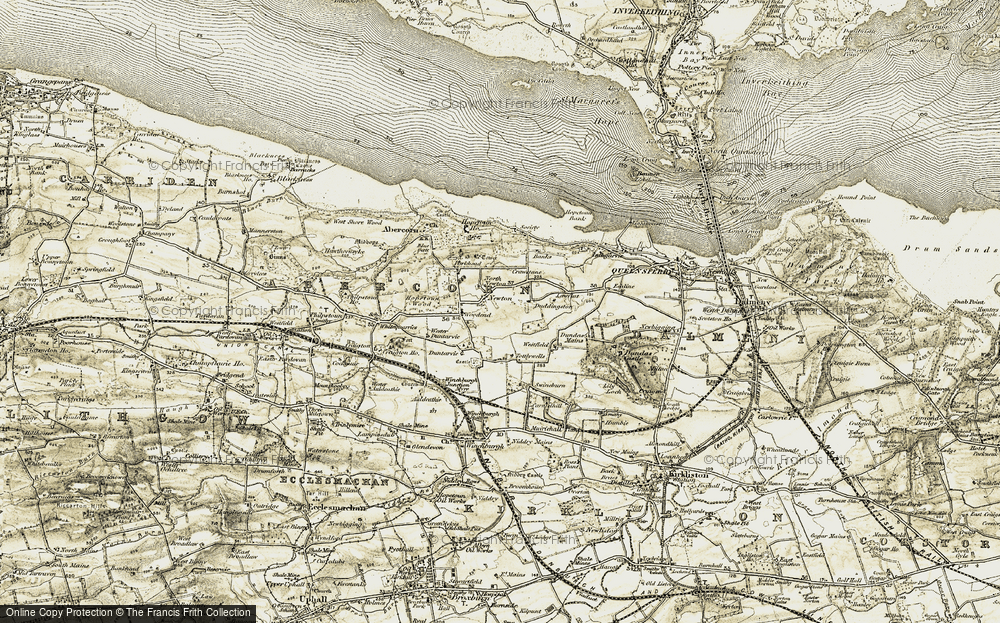 Old Map of Historic Map covering Lawflat in 1904-1906