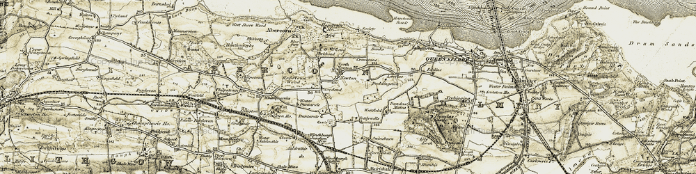 Old map of Westmuir in 1904-1906