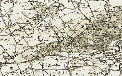 Old map of Ardgye Ho in 1910-1911