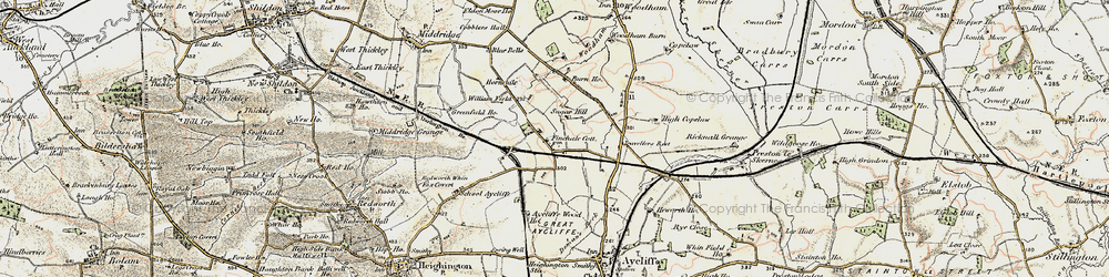 Old map of Newton Aycliffe in 1903-1904