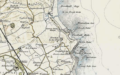 Old map of Whittingham Carr in 1901-1903