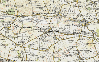 Old map of Aysgarth School in 1904