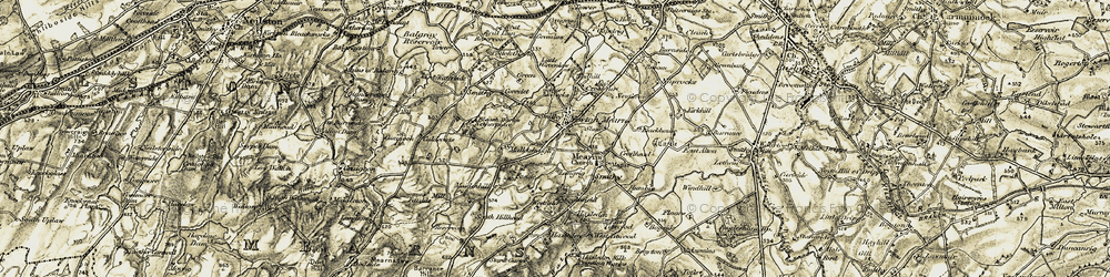 Old map of Newton Mearns in 1904-1905