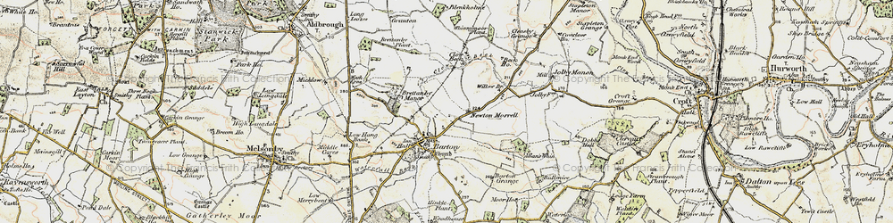 Old map of Willow Br in 1903-1904