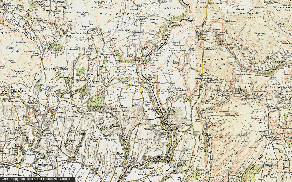 Old Map of Newton-on-Rawcliffe, 1903-1904 in 1903-1904