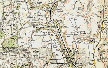 Old map of Yorfalls Wood in 1903-1904