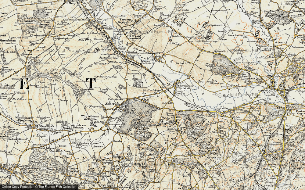 Old Map of Historic Map covering Lion Lodge in 1897-1909