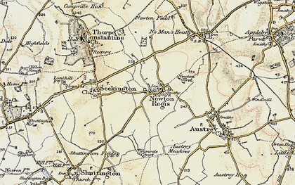 Old map of Newton Gorse in 1902