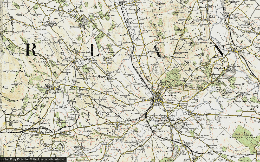 Old Map of Historic Map covering Lingstubbs in 1901-1904