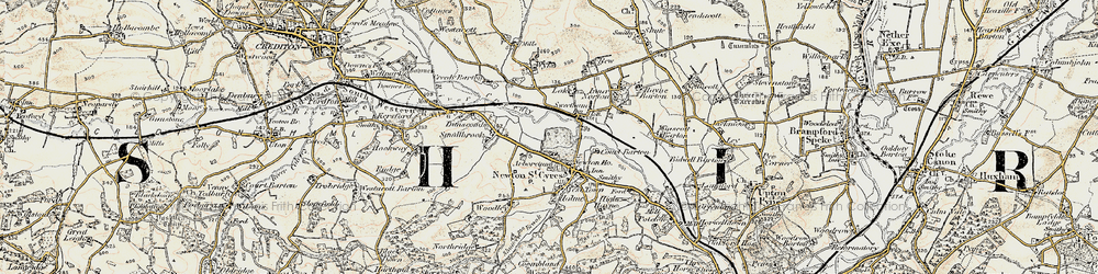 Old map of Wyke in 1899-1900