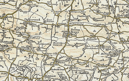 Old map of Alscott Barton in 1900