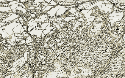 Old map of Wester Craggach in 1908-1912