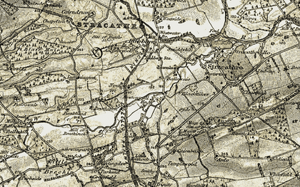 Old map of Westerton of Stracathro in 1907-1908
