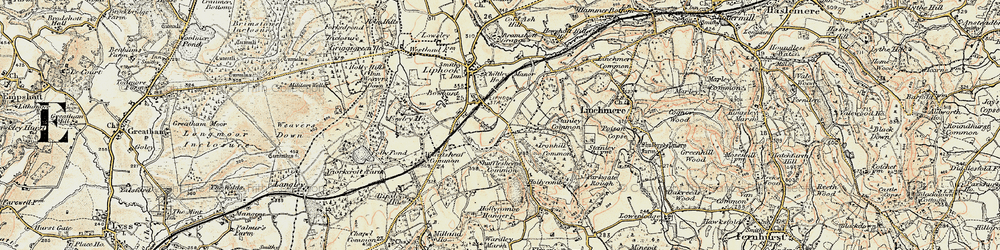 Old map of Wheatsheaf Common in 1897-1900