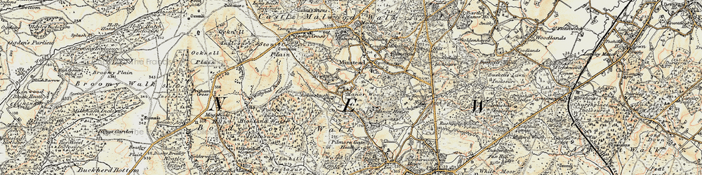 Old map of Wick Wood in 1897-1909
