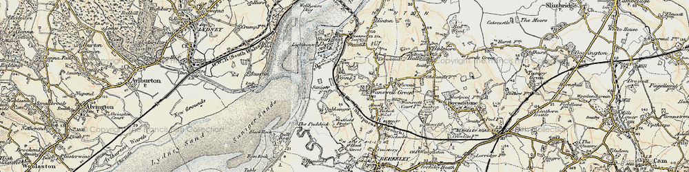 Old map of Westfield Brake in 1899-1900
