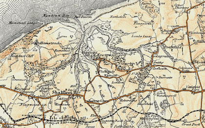 Old map of Newtown in 1899-1909