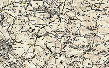 Old map of Newtown in 1900
