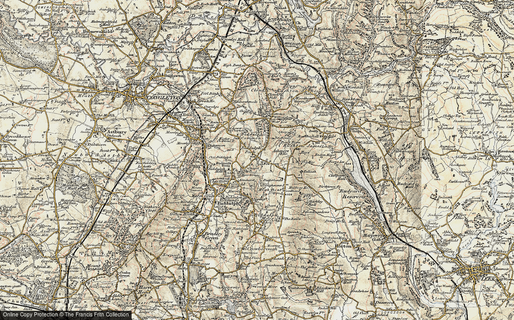Old Map of Historic Map covering Ashmore Ho in 1902-1903