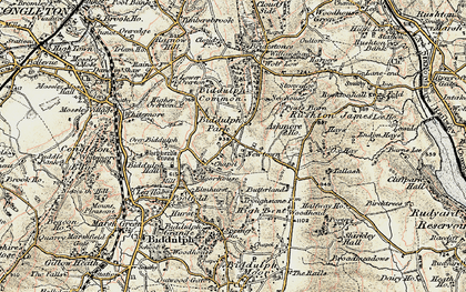 Old map of Ashmore Ho in 1902-1903