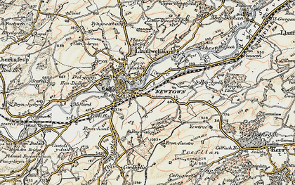 Old map of Newtown in 1902-1903
