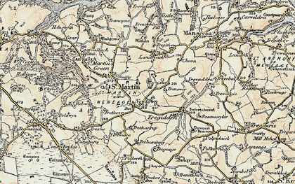 Old map of Withan in 1900