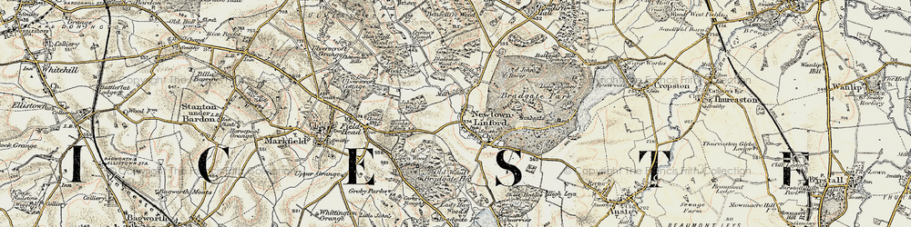 Old map of Lea Wood in 1902-1903