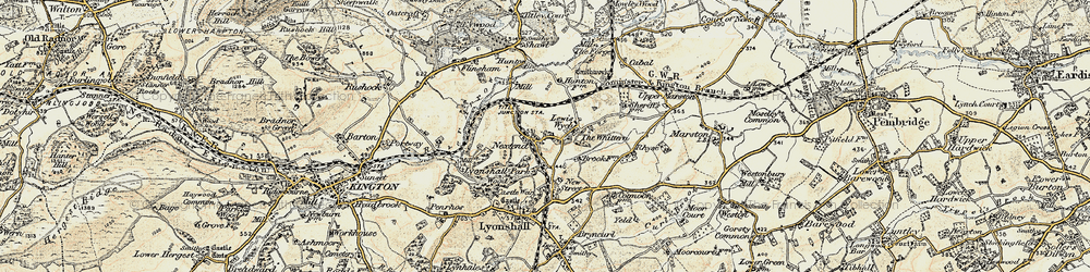 Old map of Lewis Wych in 1900-1903