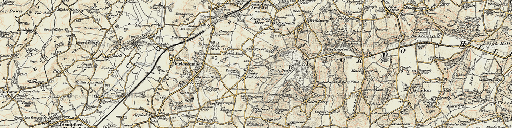 Old map of Windwhistle in 1898-1900