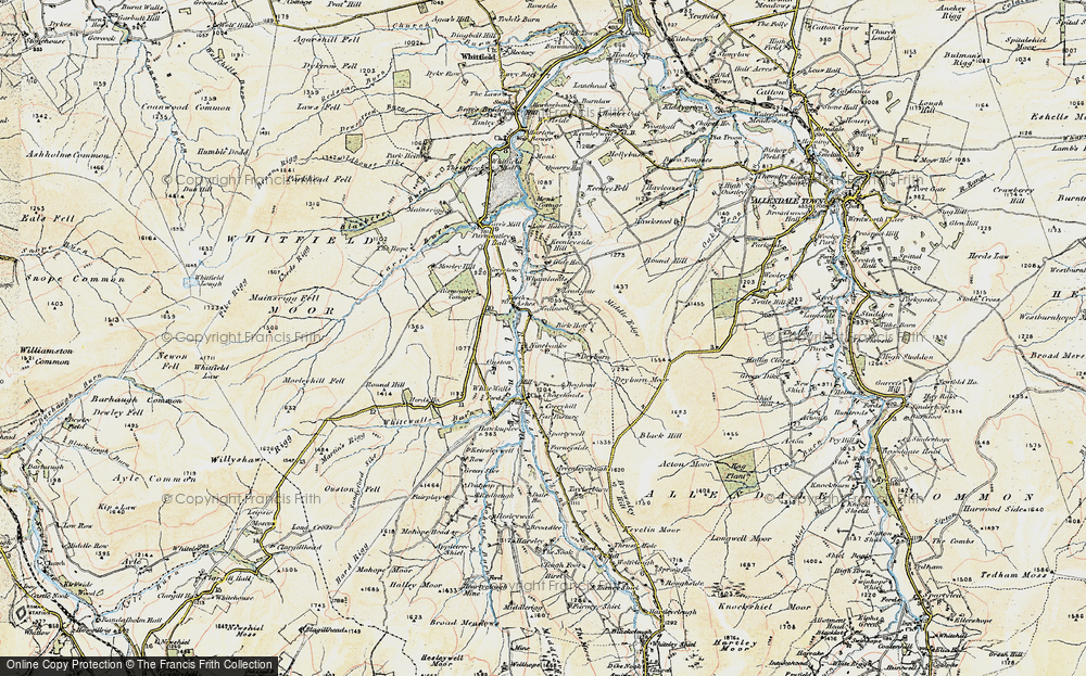 Old Map of Historic Map covering Leadgate in 1901-1904