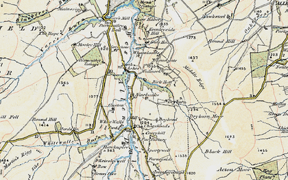 Old map of Whamlands in 1901-1904