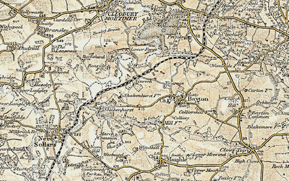 Old map of Wissett's Wood in 1901-1902
