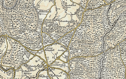Old map of Wimberry Slade in 1899-1900