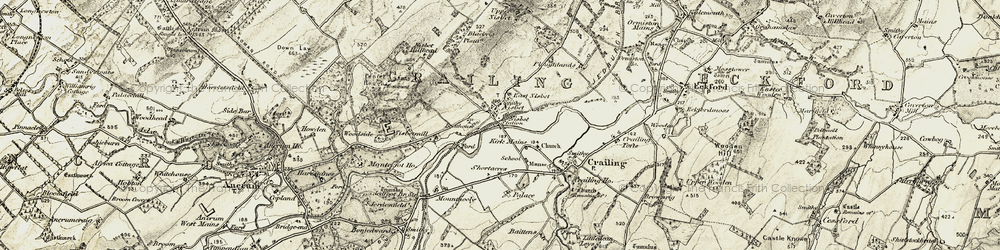 Old map of West Nisbet in 1901-1904